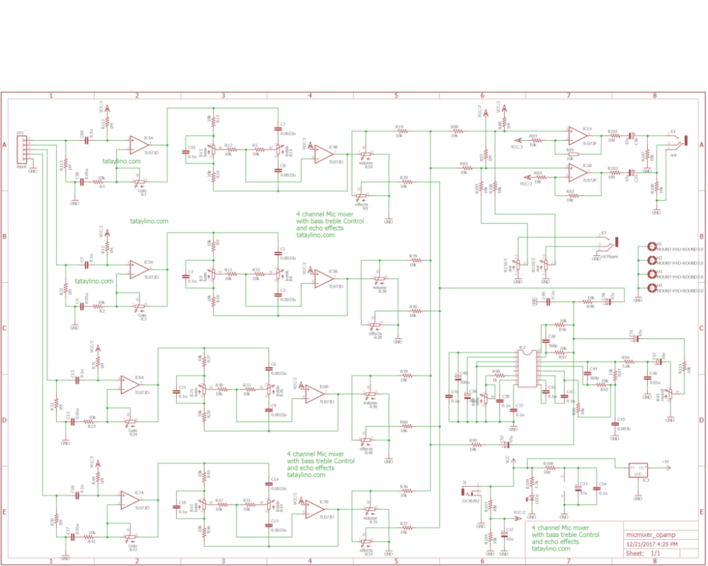 medium resolution of wrg 8908 echo mic circuit diagramsthe echo circuit is made from pt2399 ic echo ic