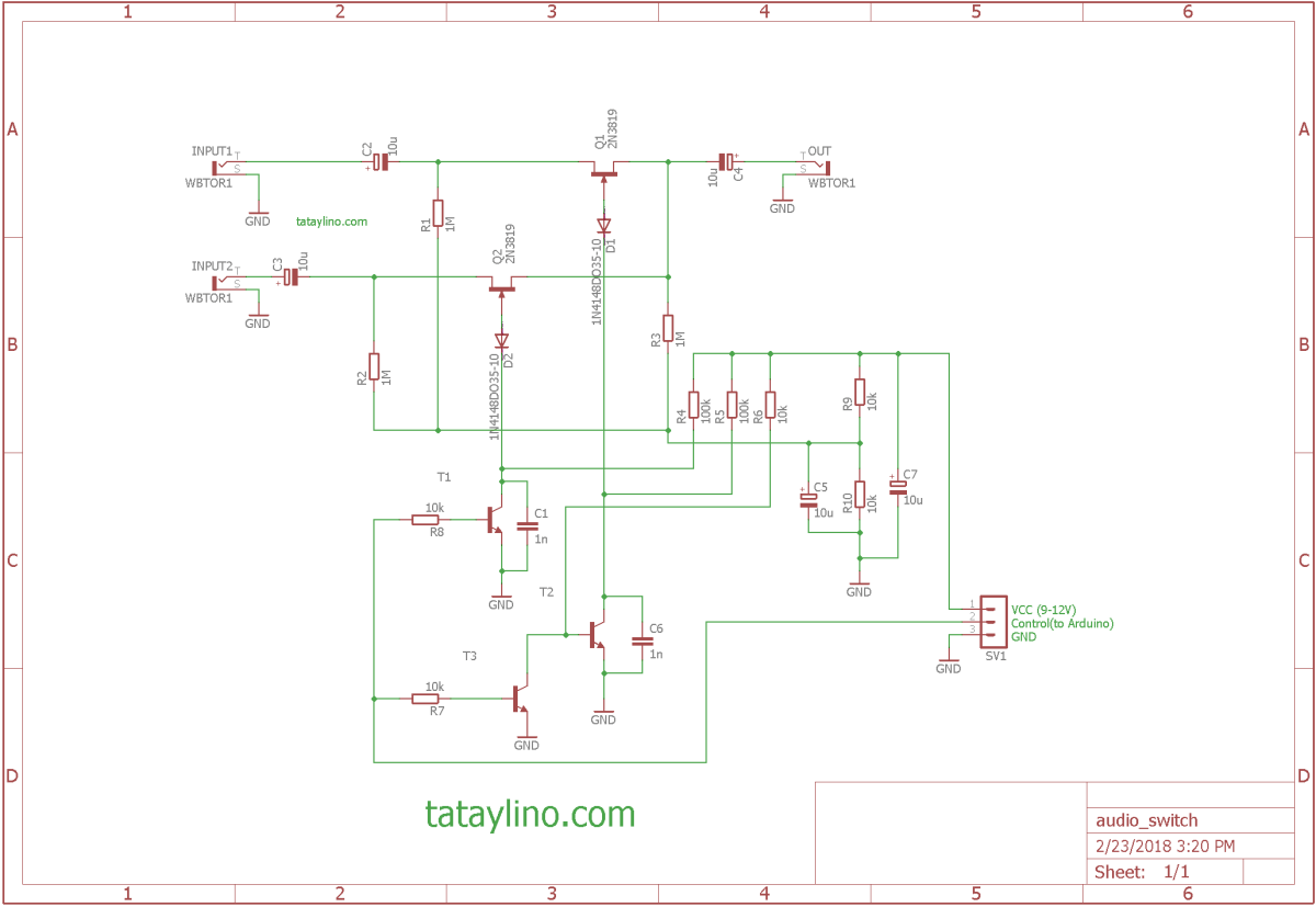 Audio Source Switch for Arduino