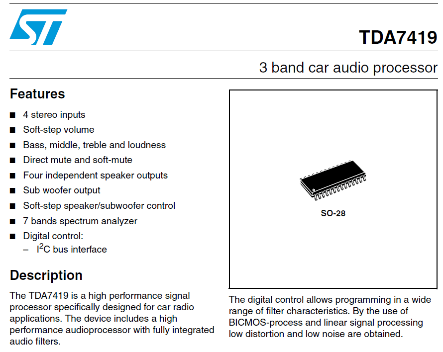 Arduino Controlled Bass Mid Treble and input selector