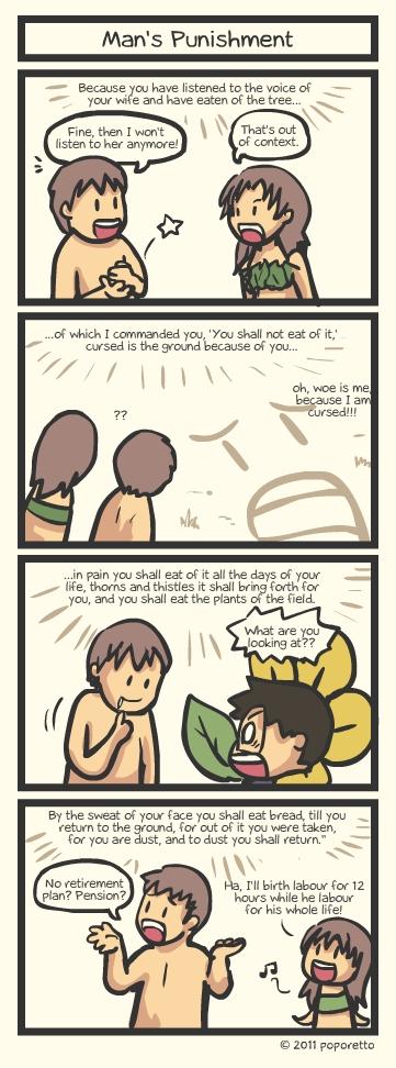 Genesis Bible Comic – Man's Punishment
