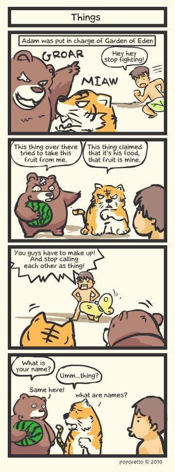 Genesis Bible Comic – Things