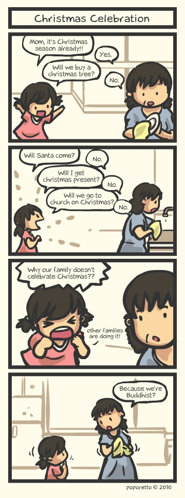 christmas celebration family comic strip