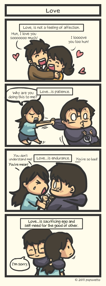 the real meaning of love comic strip christian