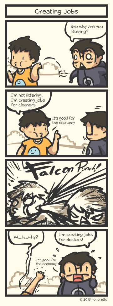 Creating job christian comic strip