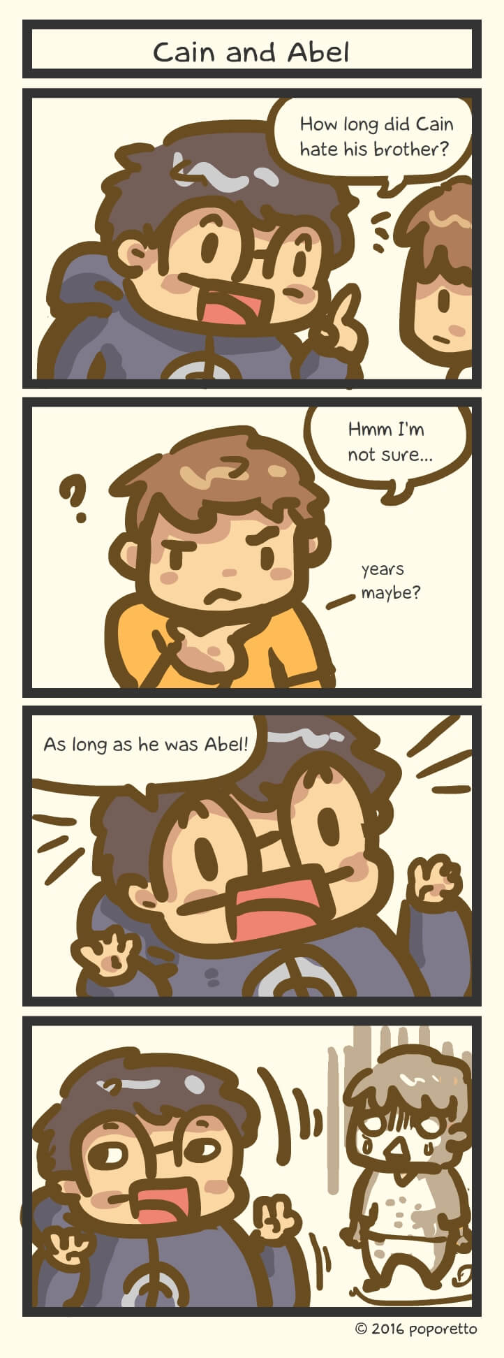 Cain and able christian joke comic strip