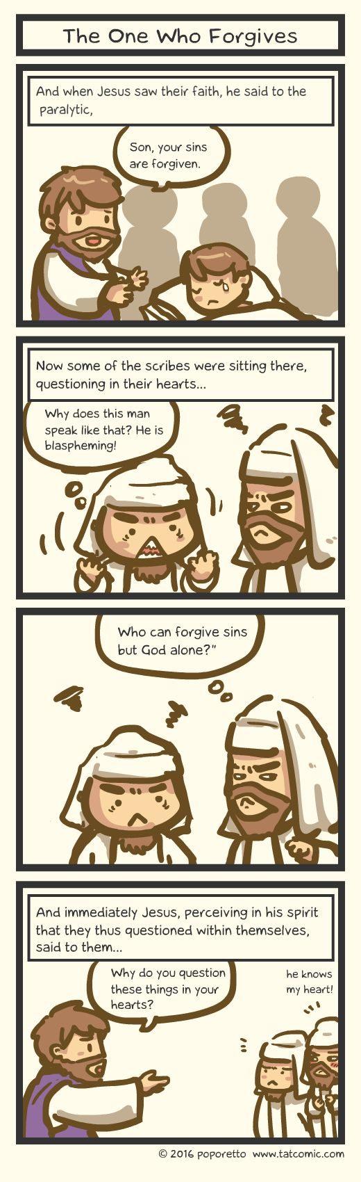 Book of mark comic gospel about how jesus healed the paralytic and the pharisee is angry