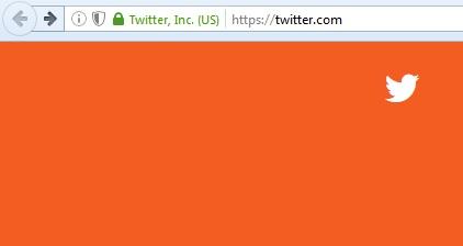 EV SSL certification for Twitter