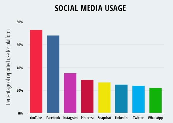 Social Media Usage Chart - Popular Platforms