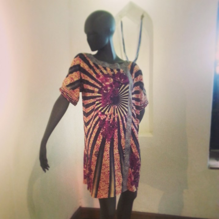 Doreen Mashika Dress made in Khanga Fabric