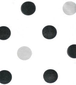 Black & Silver Large Dots