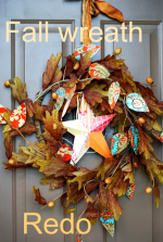 Creative Fridays: Fall wreath re-do