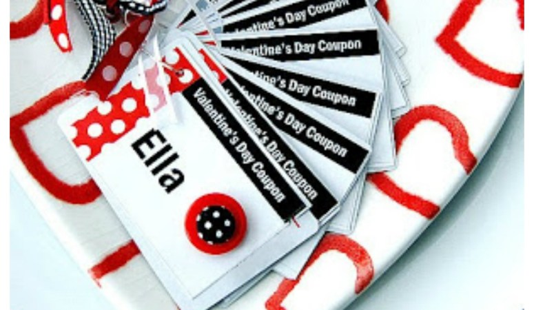 Valentine Project: Playing Card Coupon Booklets w/template