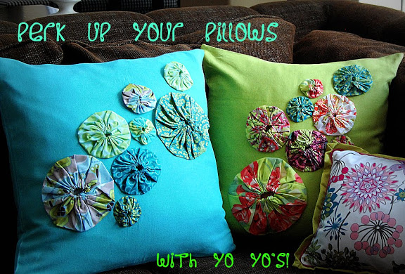 Spring Project: Perk Up Your Pillows With Yo Yo's!