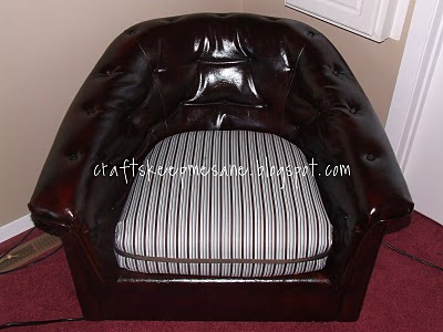Guest Project:: $5 Leather Chair Transformation!