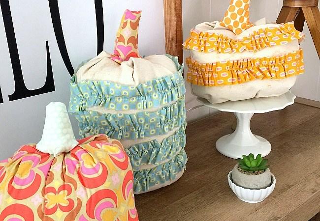 Fall Project — Ruffled Fabric Pumpkins!