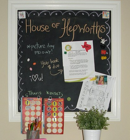 Guest Tutorial — make a DIY Magnetic Chalkboard Message Station!