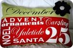 Christmas Subway Art Pillow Tutorial & a few winners!