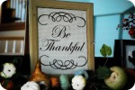 Thanksgiving Project — Turn an old window into Thankful Art!