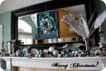 It's beginning to look a lot like Christmas — My Blue and Silver Christmas Mantel!!