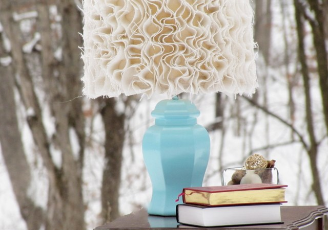 Guest Project — Anthropologie-inspired Ruffled Burlap Lamp!