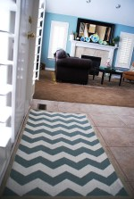 Painted Chevron Rug Reveal {tutorial}