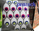 Guest Project — make a Mod Peacock Pillow with PDF{tutorial}