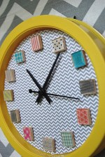 Make a Washi Tape Clock {tutorial}!!