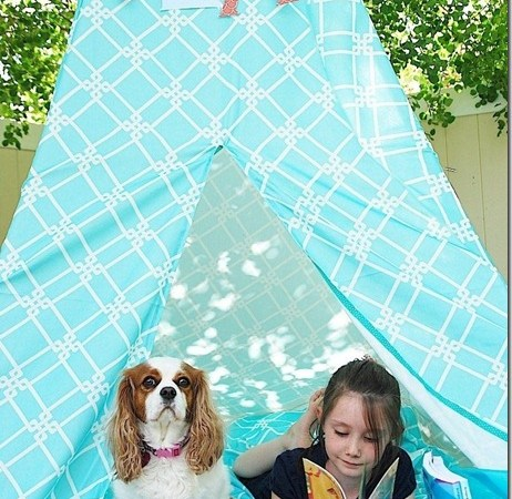 Make a Summer Reading Tent/Teepee!! {tutorial}