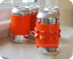 """Summer Social"" Guest Project — Make a Ruffled Soda Can Holder from an old handbag!! {tutorial}"