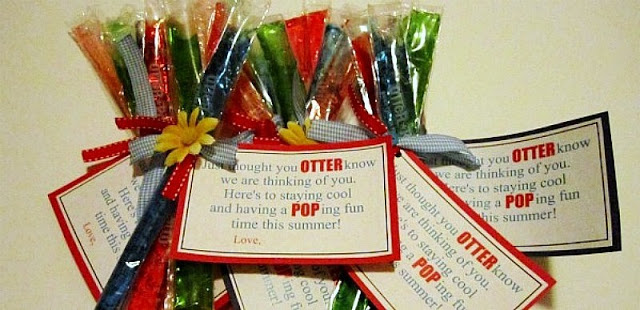 """Summer Social"" Guest Project — Make Otter Pop Summer Gifts with free printable!!"