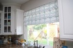 Stenciled Faux Roman Shades {tutorial} — Kitchen Sneak Peek
