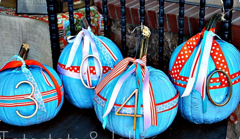 Fall Project — Make Painted Address Pumpkins {tutorial}