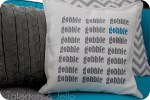 {{Gobble Gobble}} Thanksgiving Pillow tutorial