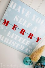 Make a Holiday Stenciled Sign {Christmas tutorial}