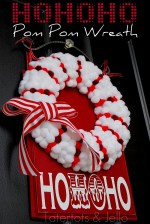 Christmas Dyed Pom Pom Wreath {Holiday tutorial}