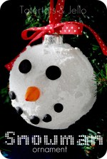 Make Sparkly Snowman Ornaments plus 12 of my Favorite Ornament Tutorials!