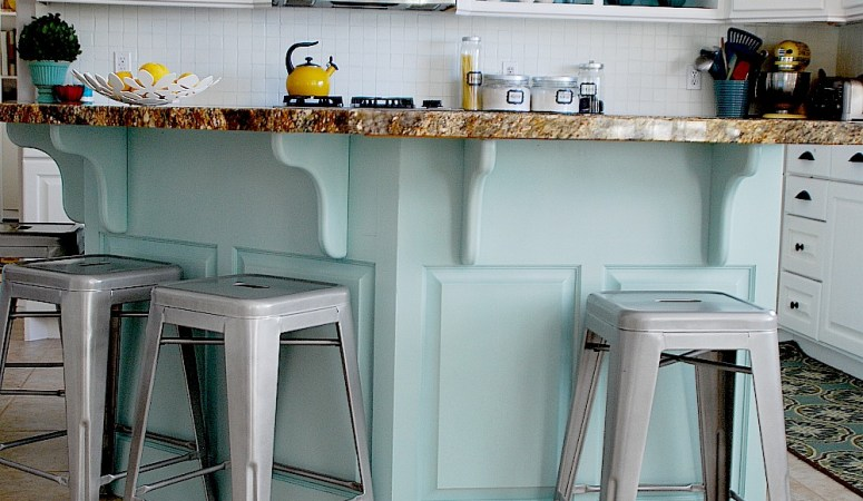 Aqua and White Kitchen Reveal!!