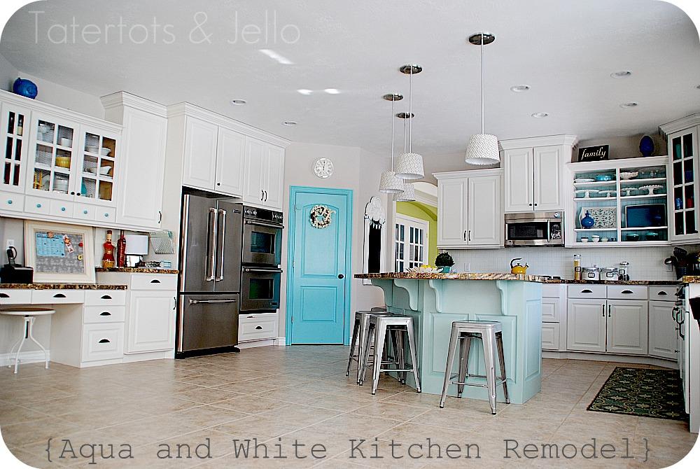 Perfect I Love My New Aqua And White Kitchen.