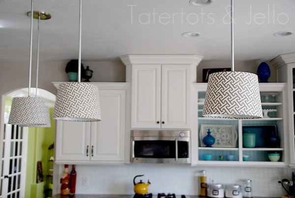 Make diy pendant lights kitchen remodel project tatertots and jello and aloadofball Image collections