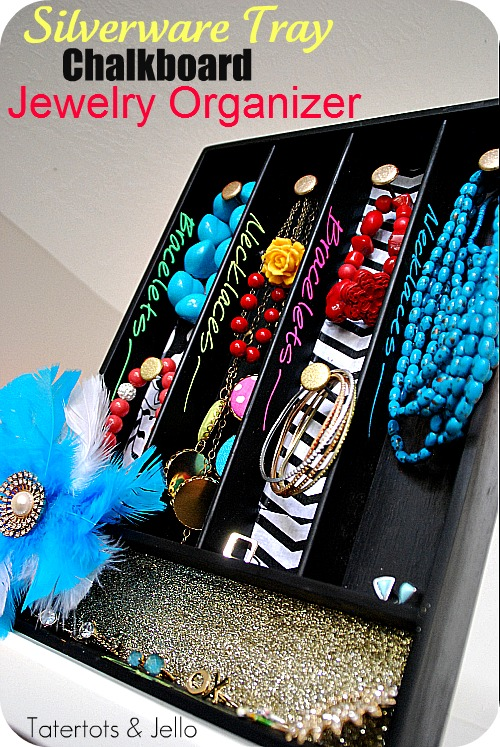Turn a Silverware Tray into a DIY Jewelry Organizer