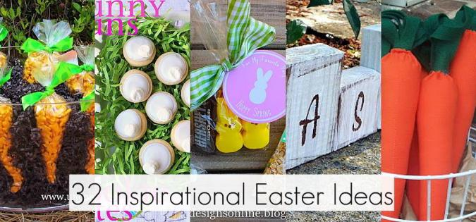 32 easter decorating party food and gift ideas here are some great easter ideas that were linked up to inspire you for spring and be sure to check out all of the links at the party there were so many negle Choice Image