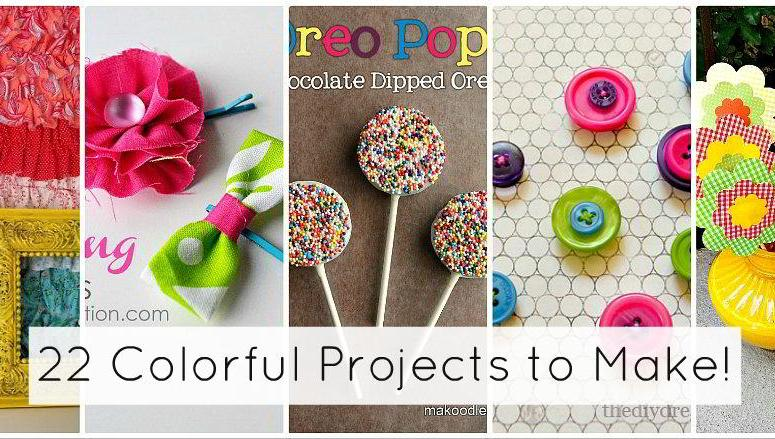 Great Ideas — 22 COLORFUL Weekend Projects!