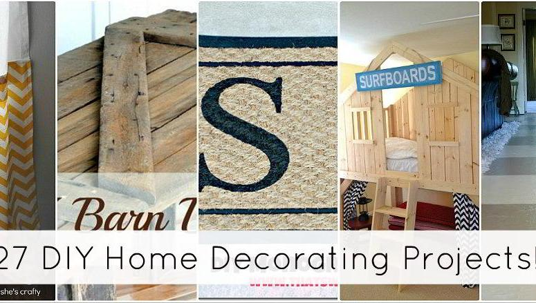 Great Ideas — 27 DIY Home Decorating Projects!!