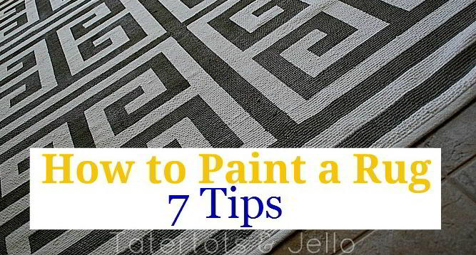 How to Paint a Rug -- Seven Tips  for a Perfectly Painted Rug!