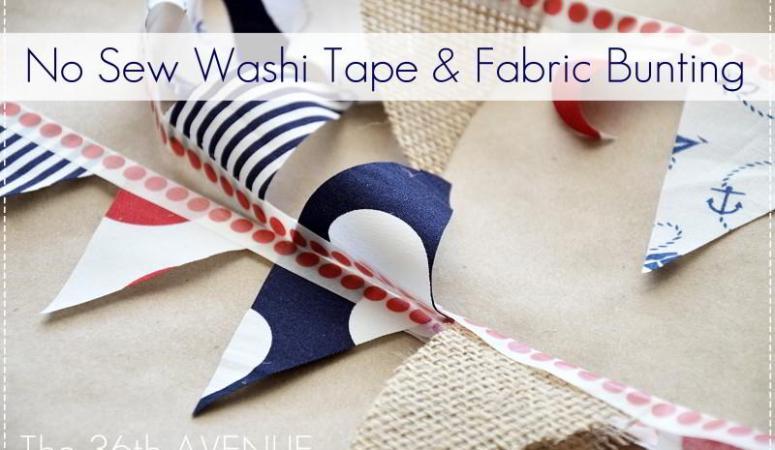 Make No-Sew Washi Tape Bunting (tutorial)!!