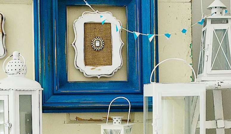 Beachy/Vintage Mantel and Framed Brooches (tutorial)!