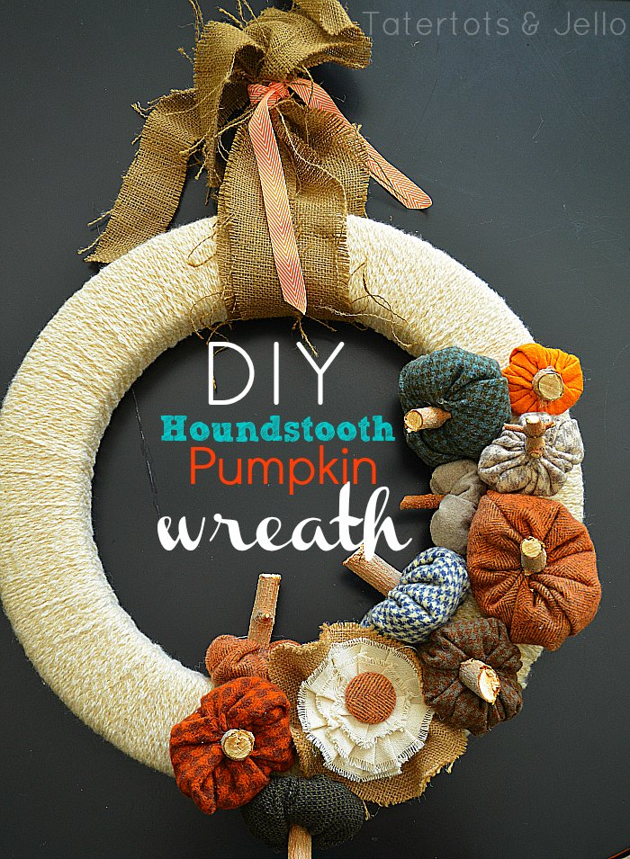 Houndstooth Pumpkin Wreath - Tatertots & Jello