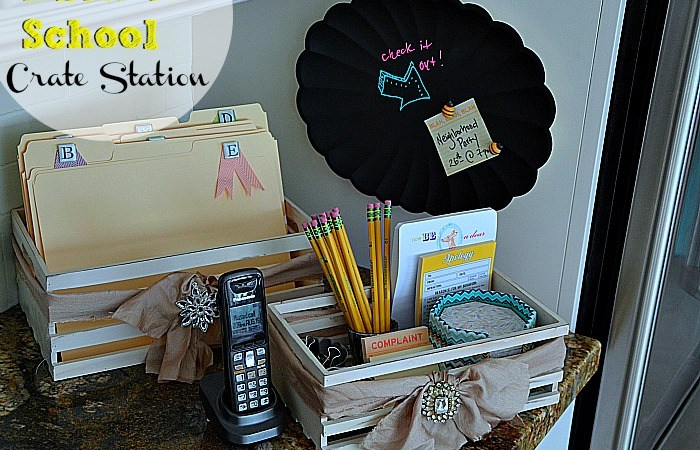 Make a Back-To-School Crate Station