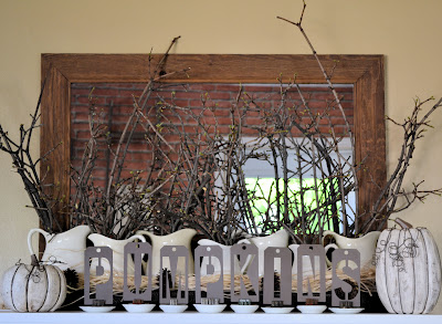neutral mantel decor shabby love - Halloween Mantel Decor