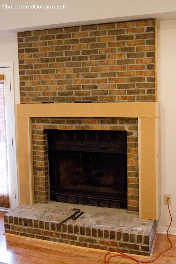 Refinishing Fireplace Part - 48: Brick Fireplace Before